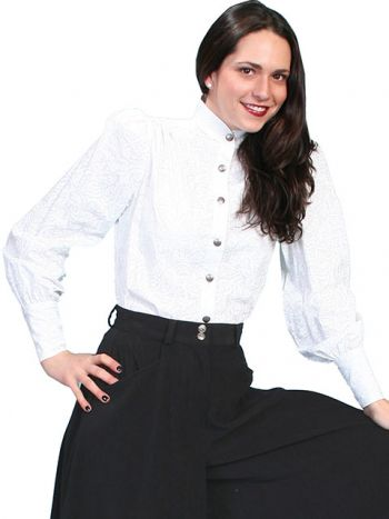 WahMaker Old West Blouse w/Stand Up Collar