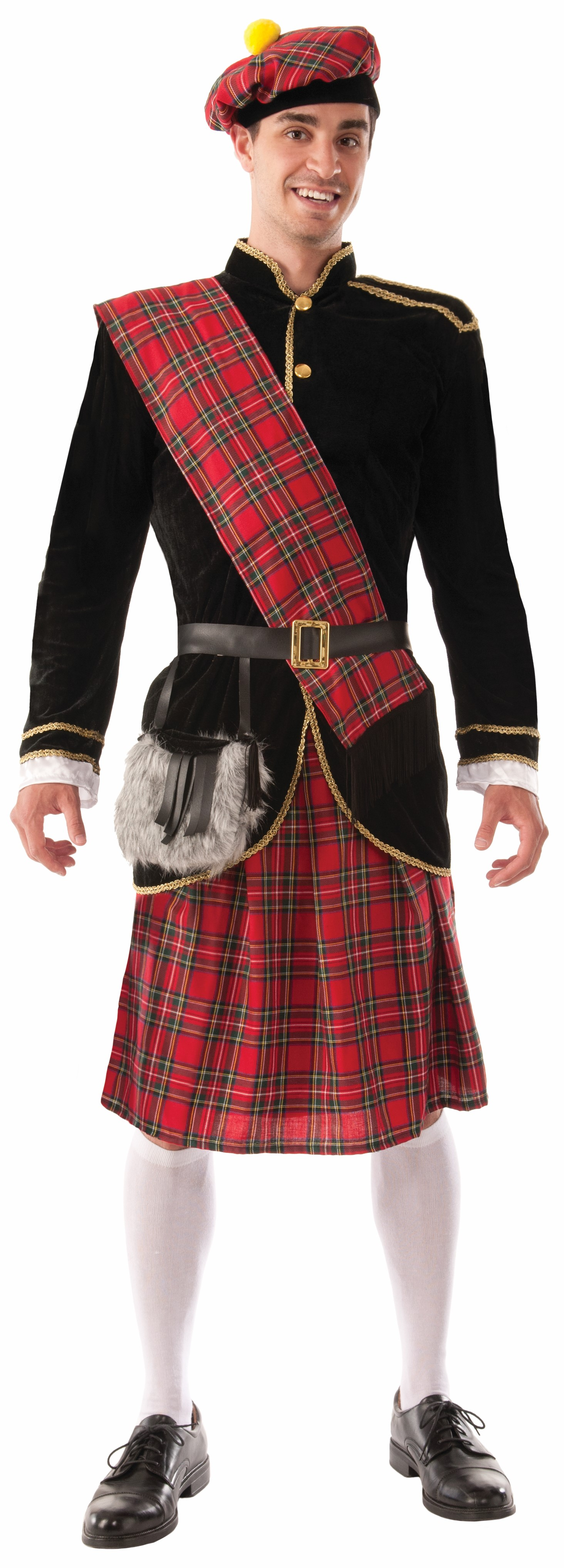 Men's Scottish Highlander 6-Piece Costume
