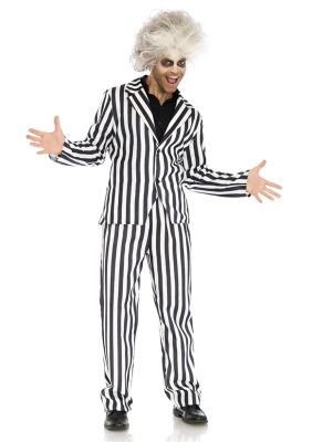Men's Black & White Beetle Juice Inspired Suit Costume
