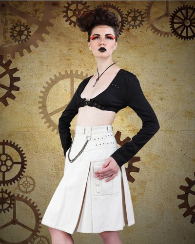 Fantastic Black & White Diesel Punk Costume