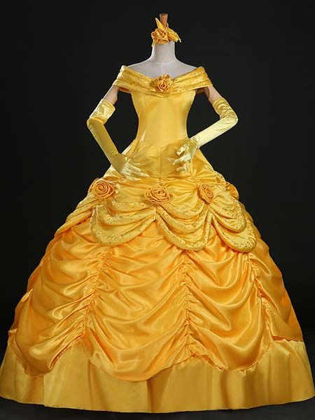 ADULT BELLE YELLOW PRINCESS COSTUME DRESS