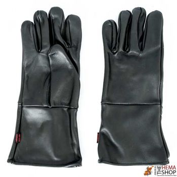 Black Leather Swordman's Gloves