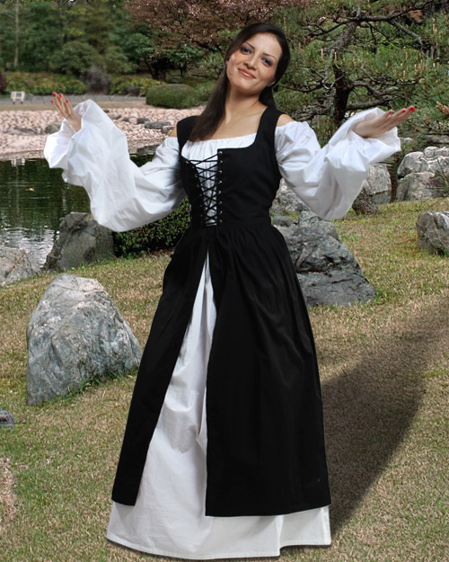 Sweet Medieval/Renaissance Peasant Over-Dress - multiple color options