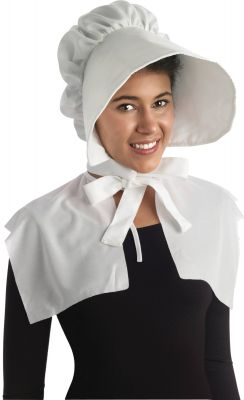 Colonial Lady White Bonnet
