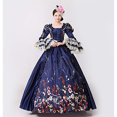 Beautiful Navy Blue 19th Century Ball Gown
