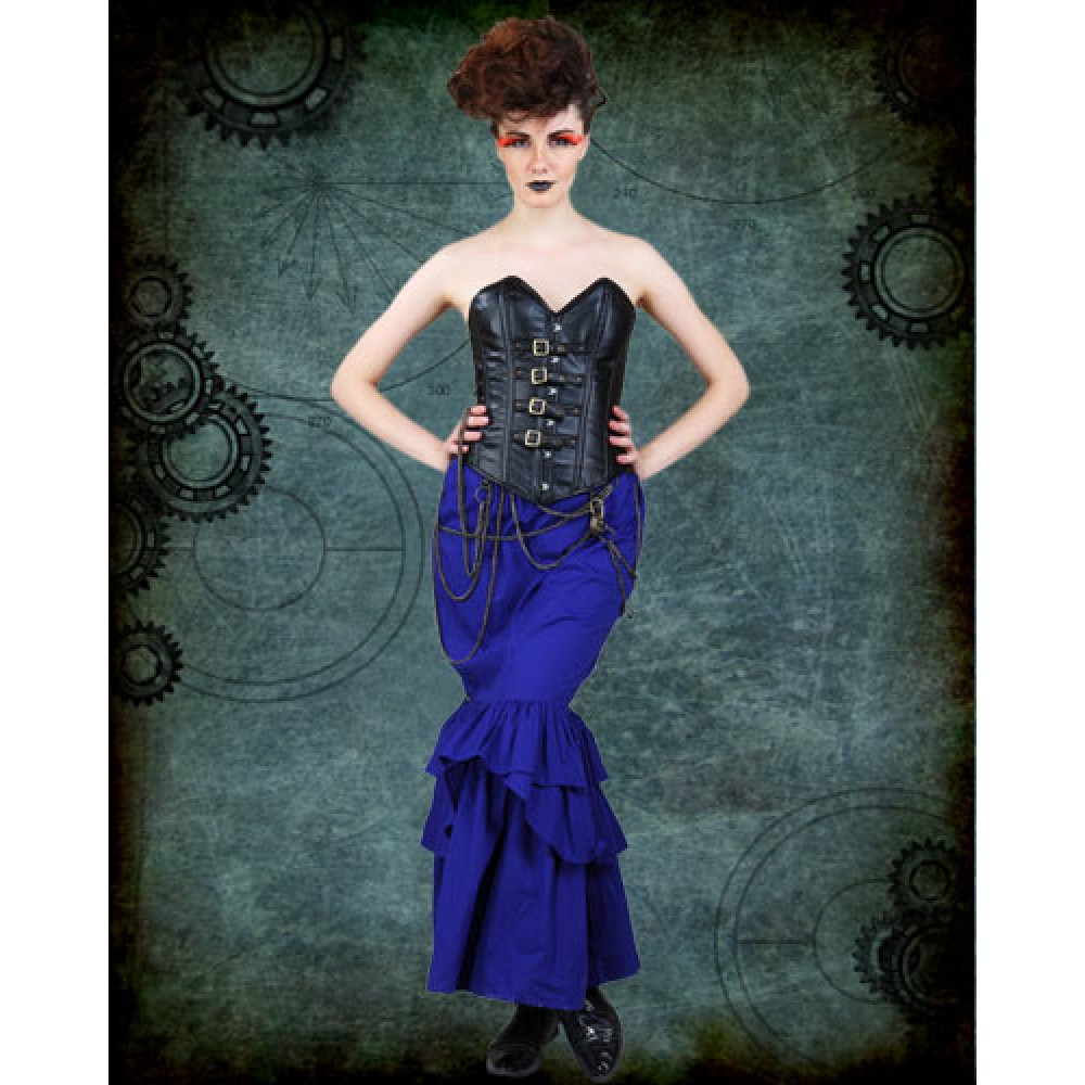 WOMEN'S STEAMPUNK BLUE & BLACK CAPTAIN COSTUME