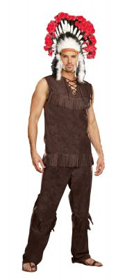 Men's 3-Piece Native American Chief Costume