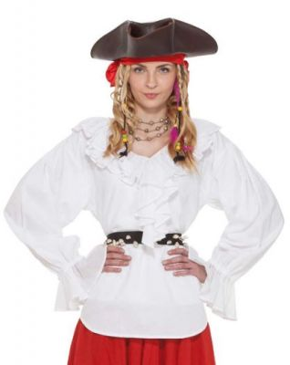 Sweet White Renaissance Pirate Costume Blouse