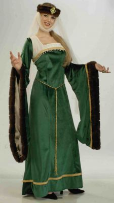 Medieval Noble Lady in Green