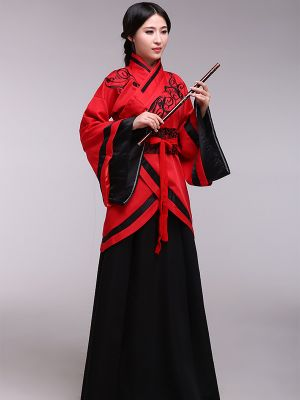 Ethnic Han Dynasty Red & Black Costume