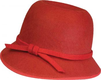 RED FLAPPER HAT