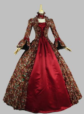 Amazing Victorian Period Dress Masquerade Ball Gown