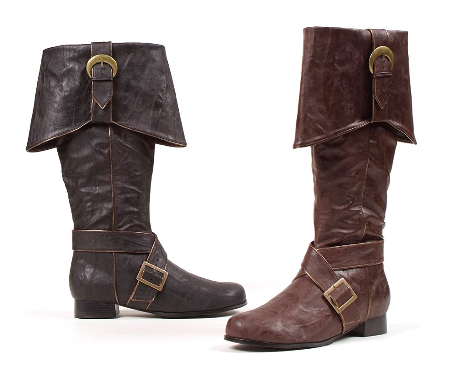 Men's Fold-over and Buckles Pirate Boots