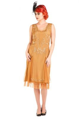 Jazzy Fringe Hem Vintage Dress