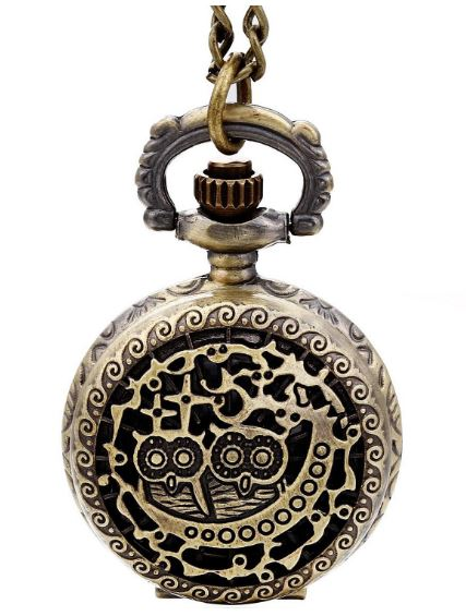 2 Owl Steampunk Pocket Chain Watch
