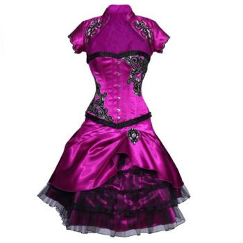 Qiana Couture Authentic Steel Boned Overbust Corset Dress