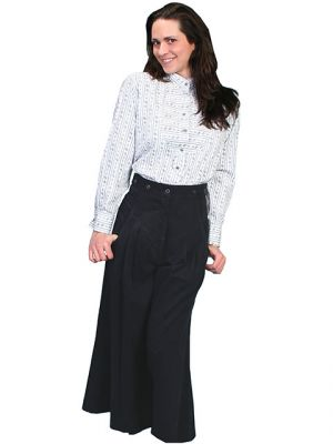 Ladies Pleated Split Skirt / Riding Pants