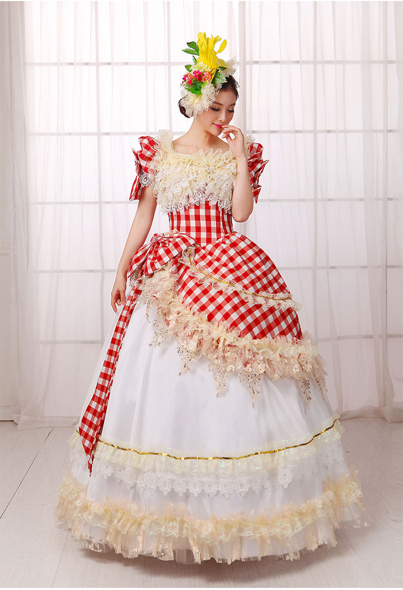 Red Plaid Southern Belle Dress