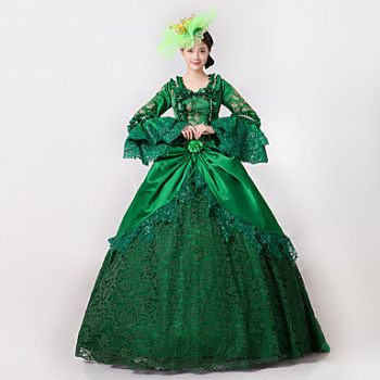 Royal Green Elizabeth Ball Gown with Train