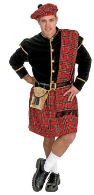 Men's 5 Piece Scottish Clansman Costume
