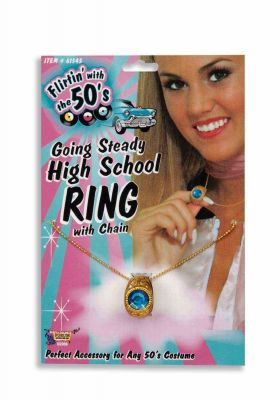 Costume Retro 50's Going Steady High School Ring