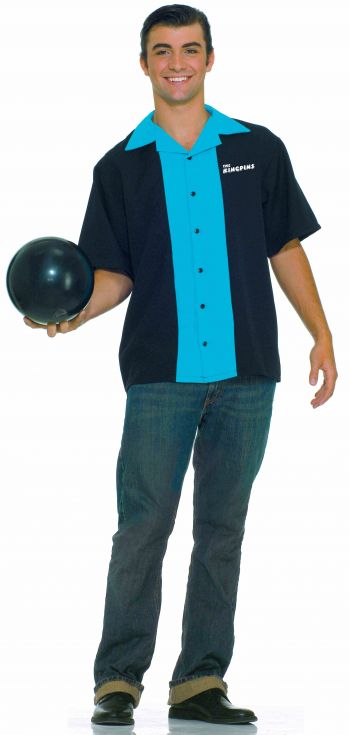 Men's Retro 1950's King Pin Bowling Shirt