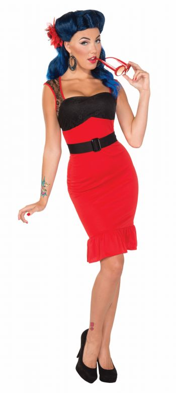 Women's Sexy 50's Retro Scarlet Rockabilly Costume