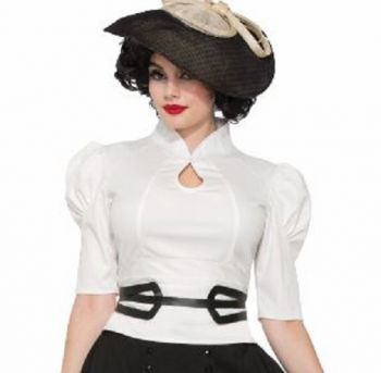 Women's Retro 1940's-1950's White Blouse