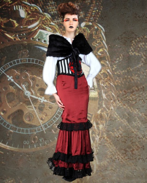 Sensational 4 Piece Dress Steampunk Costume