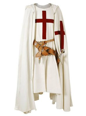 Medieval Red Cross Crusader's Cape