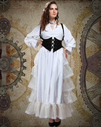 Women's 3 Piece Steampunk Costume with Harness