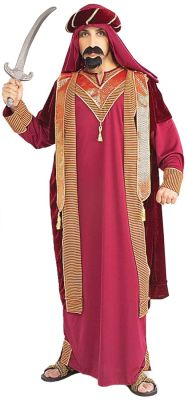 3 Piece Arabian Sultan Adult Male Costume