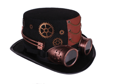 Steampunk hat with goggles