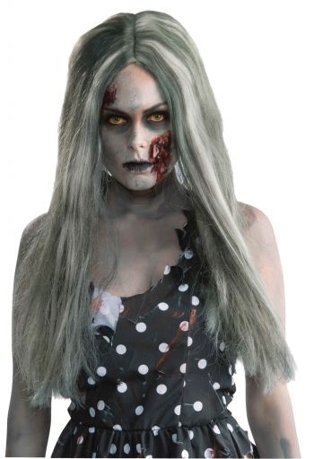 WOMEN'S LONG CREEPY ZOMBIE WIG