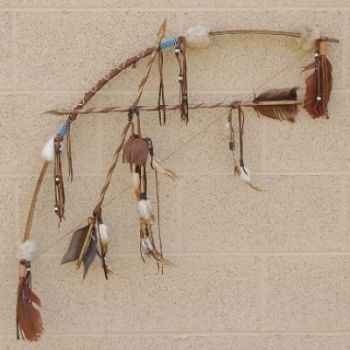 Amazing Plains Indians Ceremonial Artifact Bow& Arrow Set