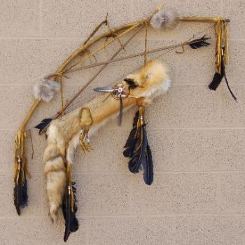 Authentic Native American Red Fox Quiver Bow and Arrows