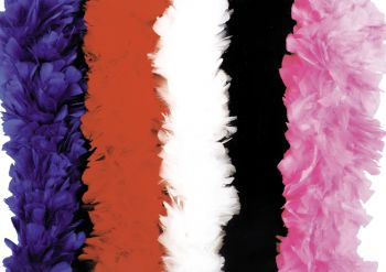 Beautiful Turkey Feather Boas Available in 3 colors.