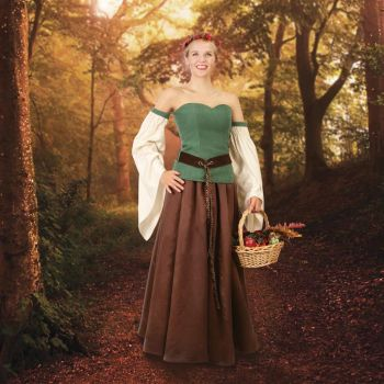 Renaissance/Medieval Delightful Costume Forest Green Gown