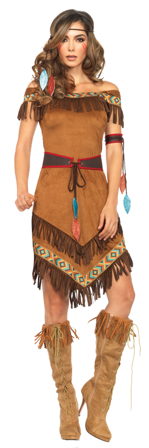 Women's Lovely 4 piece Native American Dress