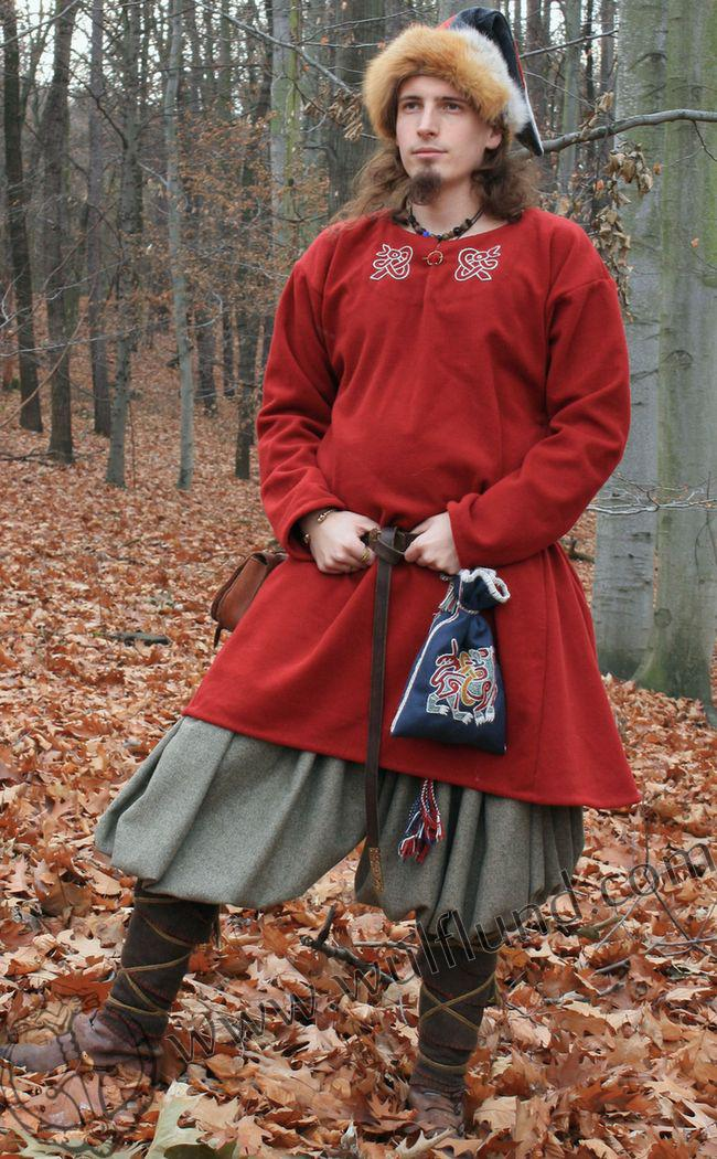 Men's Red Viking Tunic Costume