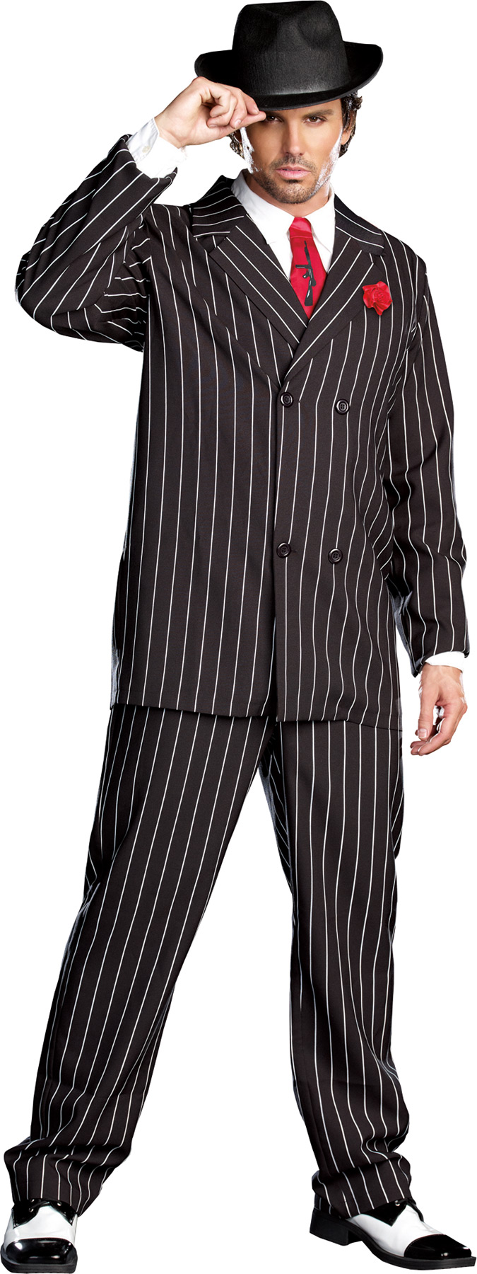 Men's 1920s Gangster Costume Suit