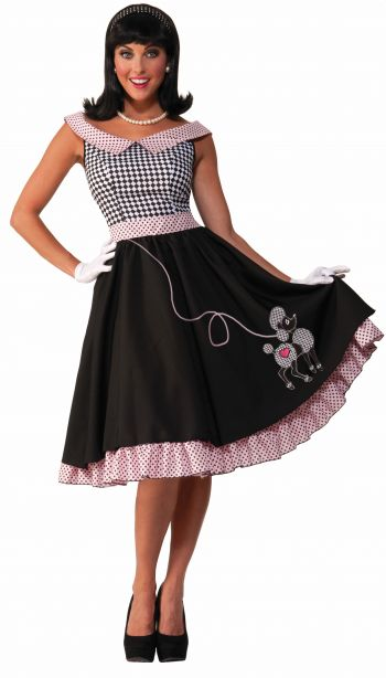 Cute Checkered 50's Pink and Black Costume Dress (Size: (XS-S)(M-L): X-Small/Small)