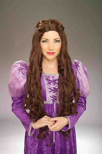 Wonderful Medieval Lady's Wig (COLOR: (BR,BL,BK): Brown)