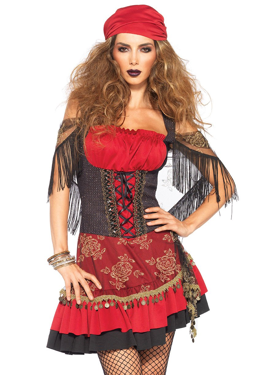 Mysterious Gypsy Lady Sexy Costume (Size: (S/M-M/L- 1X/2X - 3X/4X): Small/Medium)