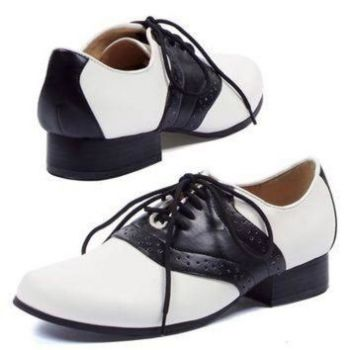 Saddle Shoes in 3 color combination choices (Colors: (BP-BW-PW): Black on White)