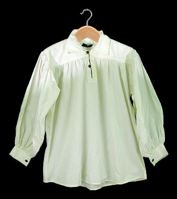 White Cotton Shirt -  Collared with Button Neck (SIZE [M-XXL]: Size: Medium)