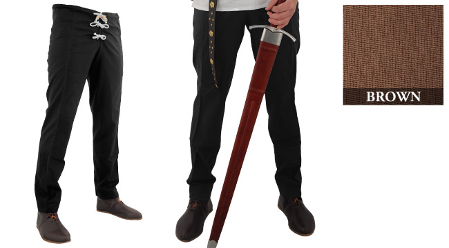 Medieval Hose, Brown (Sizes:: (M-XXL): Size: Medium)