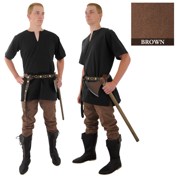 Medieval Tunic - Natural (Size - M-XXL: Size: Medium)