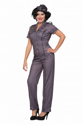 Ladies WWII Air Force Mechanic Costume (Size: (XS-S)(M-L): X-Small/Small)