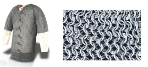 Squire Grade Aluminum Chainmail Haubergeon (Sizes: (48-60): 48 Inches)